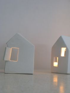 Love Houses  Modern ceramic candle holders by SimoneCeramics, $36.00
