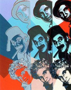 Portrait of Chico, Harpo and Groucho Marx by Andy Warhol
