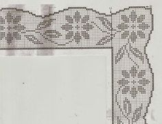 "Photo from album ""Вяжем все on Yandex. Filet Crochet, Crochet Chart, Diy Crochet, Crochet Doilies, Embroidery On Kurtis, Kurti Embroidery Design, Embroidery Patterns, Crochet Edging Patterns, Crochet Borders"