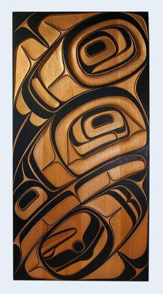 thursdayofravens:  Phil Gray, Red Cedar Raven Panel, Northwest Coast Native