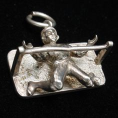 Doing The Limbo Charm Vintage Sterling Silver How Low Can You Go | eBay