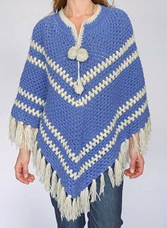 Vintage sixties poncho @ www.secondhandnew.nl