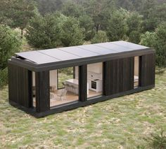 Building A Container Home, Container House Plans, Container House Design, Tiny House Design, Prefab Cabins, Prefabricated Houses, Prefab Homes, Modular Homes, Building A Small Cabin