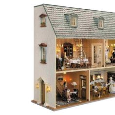 Component Set for the Wall house with removable roofScope of x 50160 - Victorian x 50370 - Roof dormer with Victorian x 50390 - Victorian Villa, Victorian Windows, Hall Flooring, Square Baskets, Box Houses, Banisters, Spiral Staircase, Kit Homes, Microsoft Word