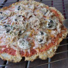 Pizza base de coliflor   1 REFLEJO EN EL ESPEJO + #VIVESANO +