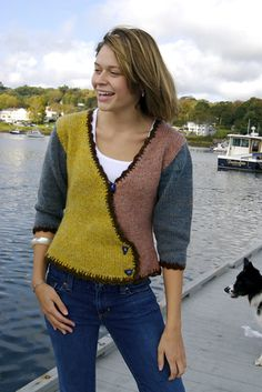 Ravelry: Low Tide Crossover Vee Sweater pattern by Pat Roinestad
