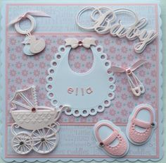 Baby Card by Sospecial Cards using Marianne Dies.