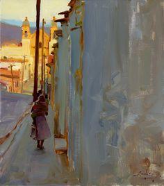 Kim English Artist Painter | Kim English, Sunday Morning, Oaxaca, oil, 16 x 14.