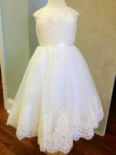 www.mae-me.com- love this flower girl dress! I like the lace and shape of this dress for jordan