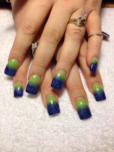 seahawks nail design - Google Search