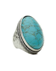 Large Turquoise Stone Ring - Jewelry - Lucky Brand Jeans
