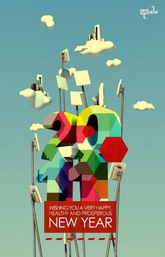 design inspiration new year poster