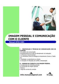 ufcd 3483. Imagem pessoal e comunicação com o cliente
