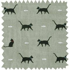 Sophie Allport Fabric (sold by the metre) - Cat: Amazon.co.uk: Kitchen & Home