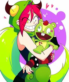 Villainous and Happy Tree Friends.such a cute crossover. Happy Tree Friends, Three Friends, Cartoon Network, Fanart, Villainous Dementia, Htf Anime, Gurren Laggan, Hat Organization, Villainous Cartoon