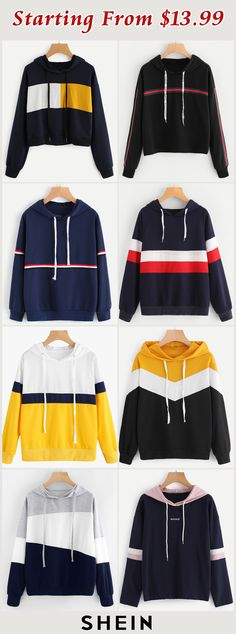 Starting from $13.99! Everyday Outfits, New Outfits, Cool Outfits, Fashion Outfits, Cute Ripped Jeans, Rainbow Sweater, Costume Collection, Sweatshirt Outfit, Hoodies