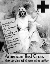 Clara Barton's American Red Cross, founded in May of 1881, provided service beyond that of the original International Red Cross. This service included disaster relief in additon to the organization's traditional work in battlefield assistance.