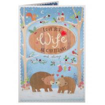 Clintons Collection Woodland Bears Wife Christmas Card