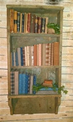 .love the books this is a great way to use my small pieces of cherished early calico