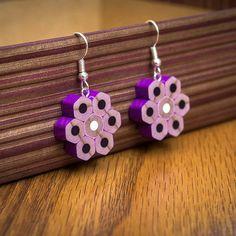 Pendientes de lápiz Pendientes Regalo para ella por ColourCastle Recycled Jewelry, Wooden Jewelry, Resin Jewelry, Jewelry Crafts, Jewelry Art, Beaded Jewelry, Handmade Jewelry, Jewellery, Diy Resin Crafts