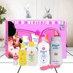 Johnsons Baby Care collection kit which includes Johnsons Baby Powder 50 gm Johnsons Baby oil 100 ml Johnsons Baby top to toe Wash 50 ml No More Tears Johnsons Baby Shampoo 60 ml Johnsons Baby Cream 30 gm One Baby Hairbr Teal Blue Color, Beige Color, Green Colors, Johnson Baby Bath, Holi Gift, Dairy Milk Silk, Barbeque Nation, Brown Cushion Covers, Baby Gift Hampers