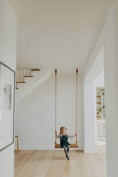 A sweet little spot to rest Every house needs an indoor swing 🙌🏼 Home Swing, Kids Swing, Indoor Swing For Kids, Bedroom Swing, Bedroom Decor, Family Room, Home And Family, Swinging Chair, Home Deco