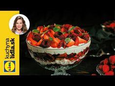 Nepečené tiramisu s jahodami a malinami 🍰   Veronika Bušová   Kuchyňa Lidla - YouTube Tiramisu, Lidl, Raspberry, Cereal, Food And Drink, Fruit, Breakfast, Youtube, The Fruit