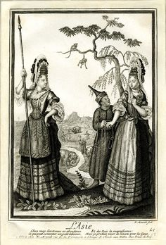 Four Continents / L'Asie  Print made by Nicolas Arnoult  Date  1680-1700