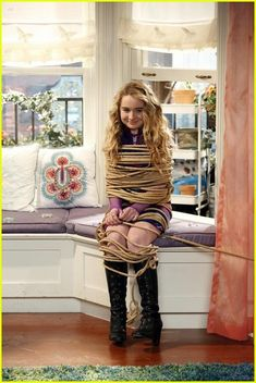 Riley & Cory Play Matchmaker In New 'Girl Meets World' Tonight: Photo Lucas (Peyton Meyer) ropes and wrangles Maya (Sabrina Carpenter) in this new still from Girl Meets World. Girl Meets World Riley, Boy Meets World, Girl Tied Up, Walt Disney Castle, Lucas And Peyton, Cory And Topanga, Peyton Meyer, Disney Channel Stars, Girls Girls Girls