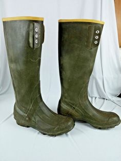 5b21bc108c1b LaCrosse Mens Rubber Boots Size 9 Waterproof 16 inches Tall Hunting Fishing