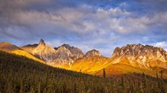 Autumn sunset glow on Snowden Mountain in the Brooks Range, Dalton Hwy, Alaska, USA, b57f72f5ca7854a5c70b9c1a47ccdfc3