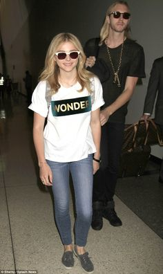 Chloe Grace Moretz was dwarfed by elder sibling Trevor in Los Angeles.