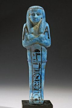 Egyptian Faience Ushabti with Inscriptions (Mouthamhat) | 8th Century BC , 7th Century BC , 6th Century BC | Price $0.00 | Egyptian | Faience | Sculpture | eTiquities by Phoenix Ancient Art