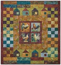 McKenna Ryan All Cooped Up-All Cooped Up Rooster Pieced Art Quilt Pattern