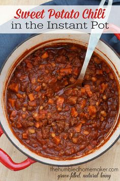 Try this delicious sweet potato chili recipe in your electric pressure cooker for a hearty me