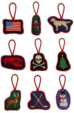 Smathers & Branson ornaments (pre-stitiched & finished as shown)