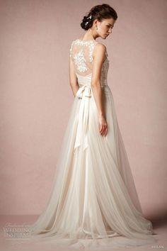 bhldn 2013 2014 onyx sleeveless wedding dress lace straps catherine deane back