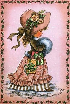 Soloillustratori: Mary May Sarah Key, Holly Hobbie, Mary May, Tatty Teddy, Illustrations, Cute Images, Cute Illustration, Fabric Painting, Christmas Art