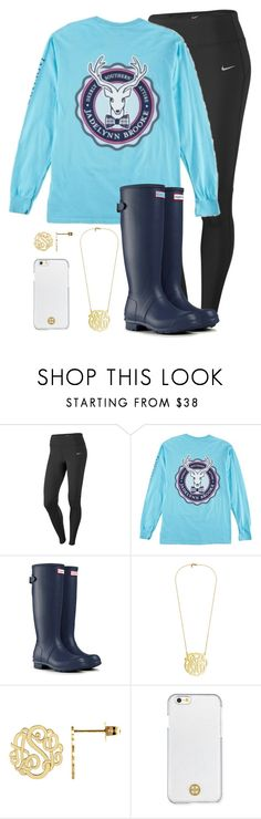 """Babysitting"" by simplesouthernlife01 ❤ liked on Polyvore featuring NIKE, Hunter and Tory Burch"