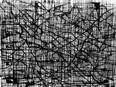 Branch grid. Ink on paper. By James de Villiers
