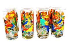 Cerve Tropical Toucan  Glasses, S/8