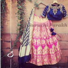 Sending some banarasi love your way! Gorgeous handwowen banarasi lehenga and dupatta paired with handwork blouse! new collection banarasi hand crafted hand made with love beautiful gorgeous indianwear indian clothes 16 March 2017 Indian Look, Indian Wear, Banarasi Lehenga, Anarkali, Saree, Lehenga Blouse, Churidar, Indian Dresses, Indian Outfits