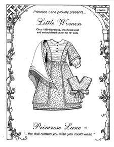 "Clothing Patterns for 18"" American Girl Dolls - Primrose Lane Patterns, Little House Pattern"