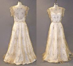 1930s 40s Evening Dress with Spider Web Rhinestone Trim by daisyandstella on Etsy  https://www.etsy.com/listing/204508188/1930s-40s-evening-dress-with-spider-web