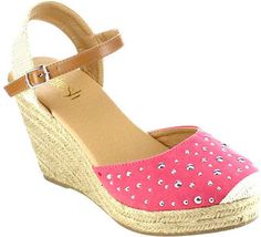 WOMEN'S BESTON SANDRA-02 ESPADRILLE WEDGE SANDAL