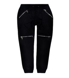 AMERICAN STITCH Moto four zipper jogger pant Elastic waistband Adjustable drawstring closure Side zipper pocket detail Additional zipper detail at knee Soft cotton inner lining for comfort