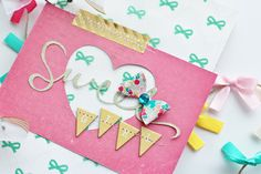 MIni Album using the Oh Darling collection - Adrienne Alvis for Crate Paper
