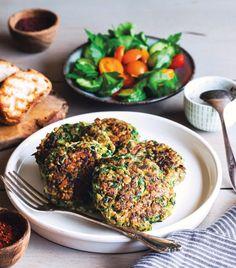 Vegan Zucchini Fritters #vegan #vegetarian #glutenfree #food #GoVegan #organic #healthy #RAW #recipe #health #whatveganseat
