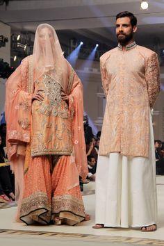 Kuki Concept Telenor Bridal Couture Week 2014 Parisa Collection: Sharara