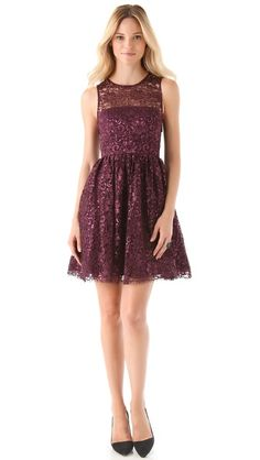 The best party dress for the holiday season. This alice + olivia Ophelia Lace Dress is girly without being over the top.